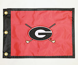 University of Georgia Golf Course Embroidered Flag