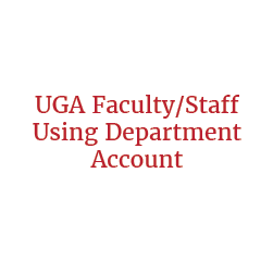 UGA Faculty/Staff Member Using Chart String