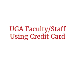 UGA Faculty/Staff Member Using Credit Card